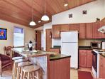 Prepare all your favorite meals in the fully equipped kitchen.