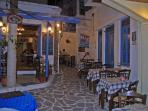 Inviting family taverna in the Old Town,Chora