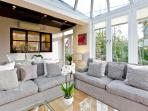 Bright, and comfortable with more sumptuous seating
