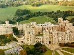 Aerial view of Windsor Castle.