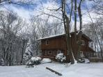 A beautiful winter retreat! Come wind down and kick back with a cup of hot chocolate.