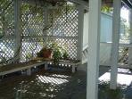 Inside decking to front door