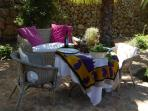 Lunch in the palm garden