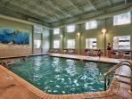 Indoor heated pool and spas are perfect for winter or inclement weather days.
