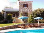 Fairy Outdoor, Garden and swimming Pool with Sunbeds and Umbrellas