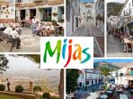 Mijas Pueblo (village) up in the mountain with beautiful white washed streets, above La Cala