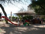 Caffe bar with playground only steps away from Noa Cottage