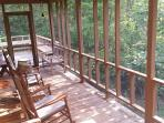 a view from the screened porch