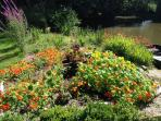 Beautiful flower filled gardens private and secluded grounds.