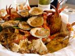 Example of the seafood platters of the region