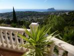 View from veranda towards Moraira and Calpe