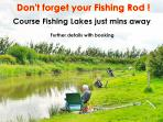 If you're into fishing, then you have lots of choice just minutes from this cottage