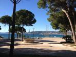 Location of the famous annual Juan Les Pins Jazz festival