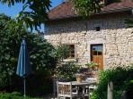 achterkant La vieille maison met tuin