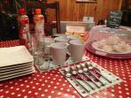 Afternoon  tea - chalet can be booked catered if you prefer