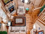 Aerial view of Call of the Wild living room