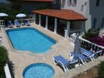 Villa has a large private pool, baby pool and extensive veranda