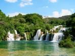 Krka National Park (30 km, via A1 highway).