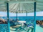 Our gazebo overlooking our beach