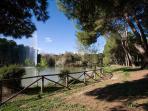 Il bellissimo Parco Riserva Dannunziana dietro casa