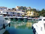 Picturesque Capabino harbour and beach with lovely restaurants 5 mins drive away