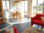 visuale del soggiorno/cucina
