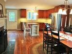Brand new kitchen, cherry cabinets, stainless steel appliances