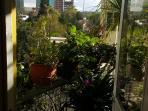 vista lateral de la terraza