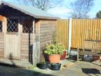 Garden with summer house