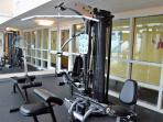 Fitness center on 9th floor