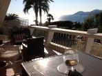 terrace + 2 sun beds