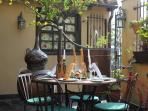 Las Llaves Spanish Restaurant, 5 mins walk from Casa Moya, meat feast, dine inside or outside, book!