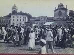 histórica foto da feira em Cachoeira, que mantém a importancia económica e cultural até hoje.