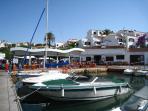 La Cantina, Port Addaia restaurant and bar, 3 minute stroll from villa.