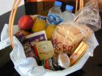 Small Welcome Hamper is provided for guests ( contents may vary from picture shown).