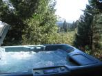 Our four-person hot tub is available in any season.