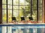 Relax at the indoor pool year round