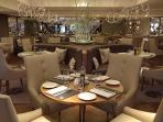 The Keiller Brasserie features seasonally selected menus based on local produce