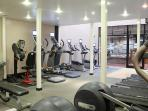 Keep up with your keep fit routine in the 2 story fitness centre and squash in the Country Club