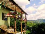 Our terrace in summertime. Live like a modern hermit on top of the Romanian mountains! Retreat