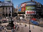 Famous Piccadilly Circus, just a few blocks away - full of activity, shops, and transport hubs