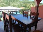 outside veranda with dinning table