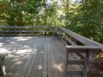 Relax on the deck overlooking Beebe Woods