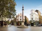 Amazing view of Seven DIals roundabout - the apartment is literally on the intersection!