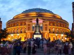 Royal Albert hall music and performance venue a short walk away. Home of The Proms!