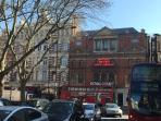 Sloane Square - the tube, more shops and restaurants and the cutting edge Royal Court Theatre