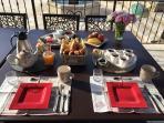 Petits-déjeuners en terrasse