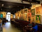 Interior of the marvellous Templiers Hotel. Visit for a drink with the friendly locals.