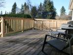 Private back deck for suntanning, reading, relaxing, BBQ's!