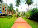 """This Spacious 2 bedroom Residence is located in Candolim at """"Devashri Sun n Sand Complex"""